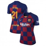 Women's 2019/20 Barcelona Home #21 Frenkie de Jong Blue Red Authentic Jersey