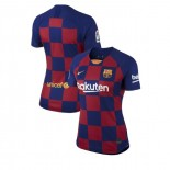 Women's 2019/20 Barcelona Home Blue Red Authentic Jersey
