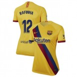Women's 2019/20 Barcelona Away Stadium #12 Rafinha Yellow Authentic Jersey