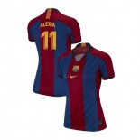Women's Alexia Putellas Barcelona El Clasico Blue Red Retro Replica Jersey