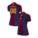 Women's Custom Barcelona El Clasico Blue Red Retro Replica Jersey