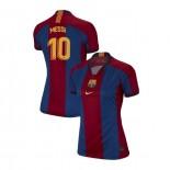 Women's Lionel Messi Barcelona El Clasico Blue Red Retro Replica Jersey