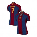 Women's Philippe Coutinho Barcelona El Clasico Blue Red Retro Authentic Jersey