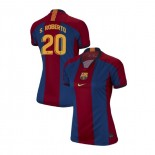 Women's Sergi Roberto Barcelona El Clasico Blue Red Retro Replica Jersey