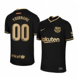 Youth Custom 2020/21 Youth Barcelona Away Black Replica Jersey