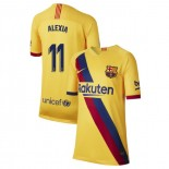 Youth 2019/20 Barcelona Away Stadium #11 Alexia Putellas Yellow Replica Jersey