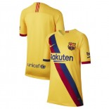 Youth 2019/20 Barcelona Away Stadium Yellow Authentic Jersey