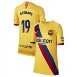 Youth 2019/20 Barcelona Away Stadium #19 Barbara Latorre Yellow Replica Jersey