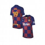 Youth 2019/20 Barcelona Home #19 Carles Alena Blue Red Replica Jersey