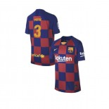 Youth 2019/20 Barcelona Home #3 Gerard Pique Blue Red Replica Jersey
