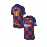Youth 2019/20 Barcelona Home #18 Jordi Alba Blue Red Replica Jersey
