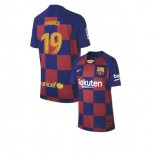 Youth 2019/20 Barcelona Home #19 Kevin-Prince Boateng Blue Red Authentic Jersey