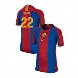 Youth Barcelona Arturo Vidal El Clasico Blue Red Retro Replica Jersey