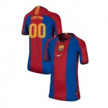 Youth Barcelona Custom El Clasico Blue Red Retro Replica Jersey