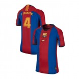 Youth Barcelona Ivan Rakitic El Clasico Blue Red Retro Replica Jersey