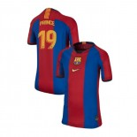 Youth Barcelona Kevin-Prince Boateng El Clasico Blue Red Retro Authentic Jersey