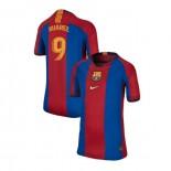 Youth Barcelona Luis Suarez El Clasico Blue Red Retro Authentic Jersey