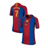 Youth Barcelona Philippe Coutinho El Clasico Blue Red Retro Authentic Jersey