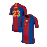 Youth Barcelona Samuel Umtiti El Clasico Blue Red Retro Replica Jersey