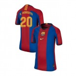 Youth Barcelona Sergi Roberto El Clasico Blue Red Retro Authentic Jersey